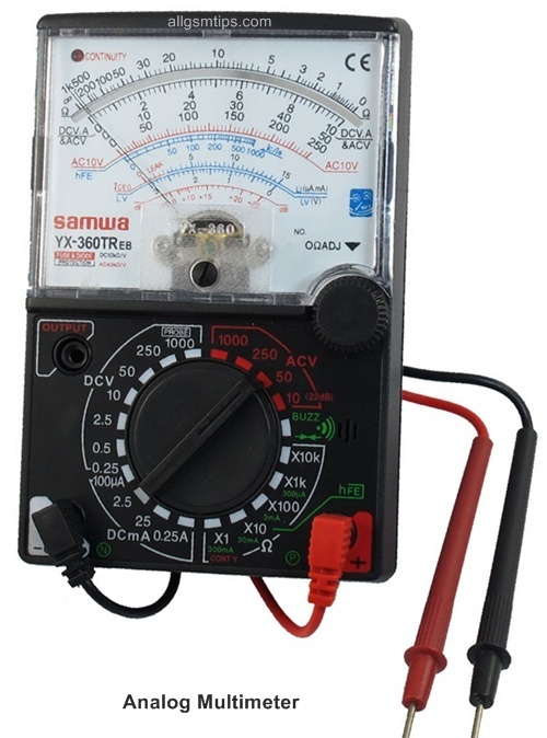 Digital Analog Multimeter : How to use a multimeter in mobile phone repairs all cell