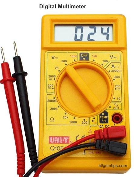 Digital Multimeter Meter Reading : How to use a multimeter in mobile phone repairs all cell
