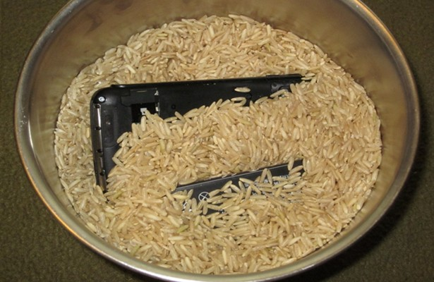 water logged smartphone repair by rice